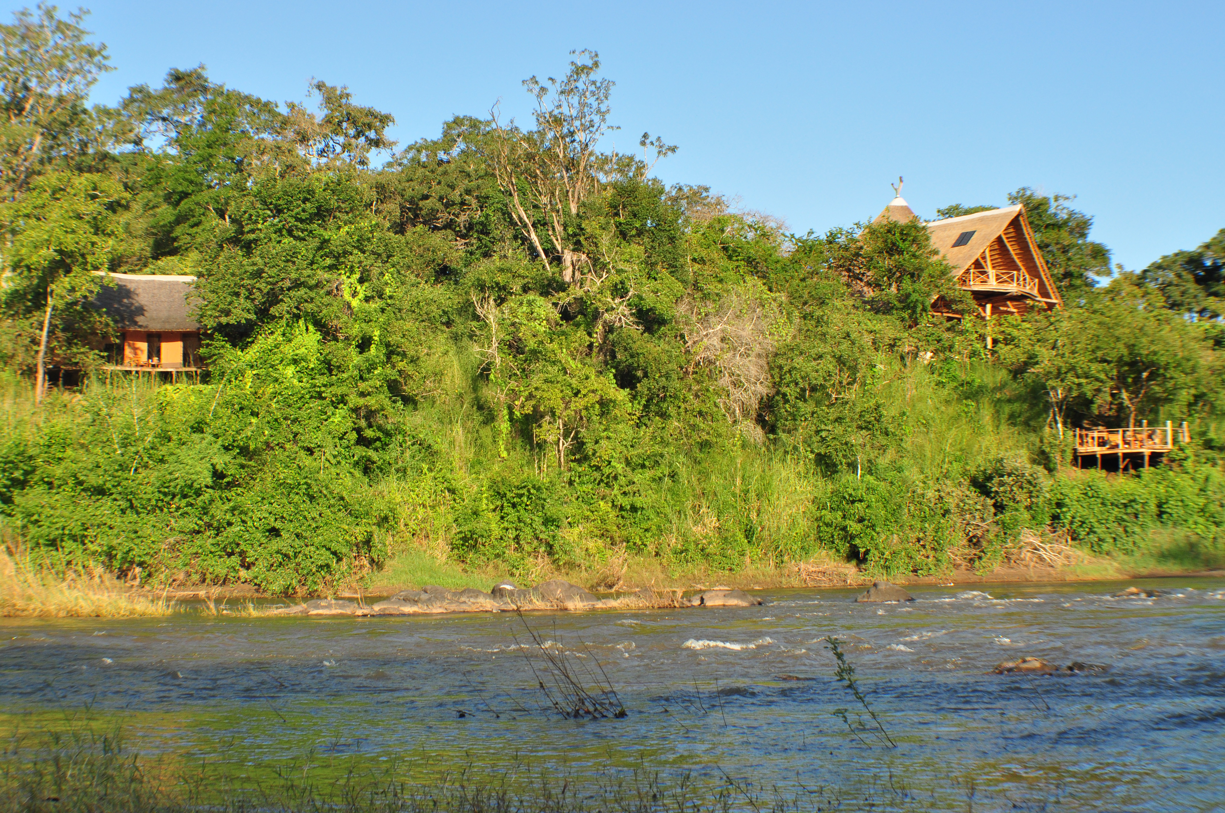 View to lodge from river